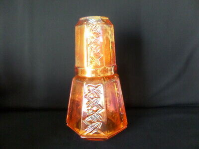 Nola Tumble-up Marigold Carnival Glass By Inwald, Czech • 40£