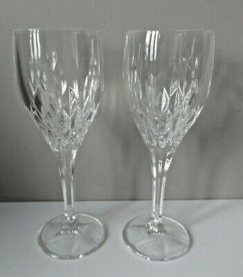 Two Royal Doulton Crystal Glass Retro Pattern Wine Glasses • 19.99£