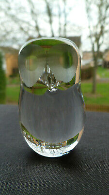 Vintage Wedgwood Crystal Art Glass Owl Figurine Paperweight Marked • 12£