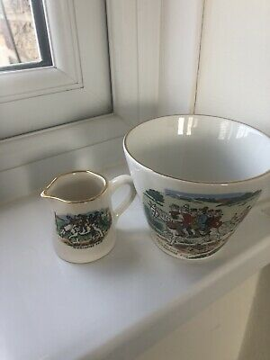 Vintage Lord Nelson Pottery:  For To Go To Widecombe Fair  Cup & Jug  • 9.99£