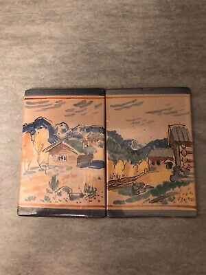 Vintage Norsk Norway Pottery Tile/Plaques • 9.99£