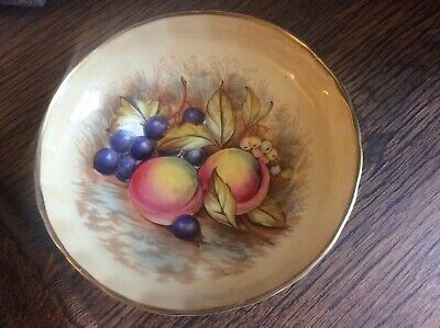 Aynsley  Orchard Gold  Footed Dish -signed D.jones- Excellent Condition • 9.95£