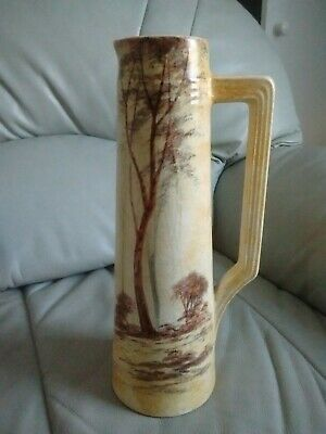 Signed Hand Made & Hand Painted One Handled Pitcher ( Vase ) • 6£