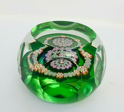 Perthshire Small Paperweight Millefiori And Faceted Design PP32 1979 • 20£