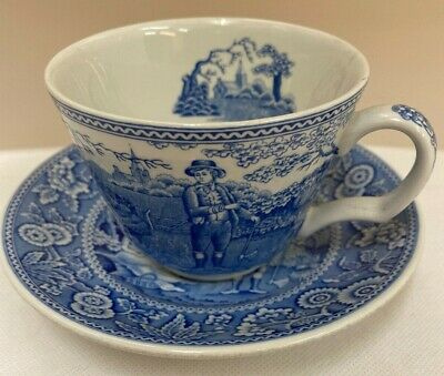 Beautiful 'Woodman' Tea Cup & Saucer From The Spode Blue Room Collection (D5) • 4.99£
