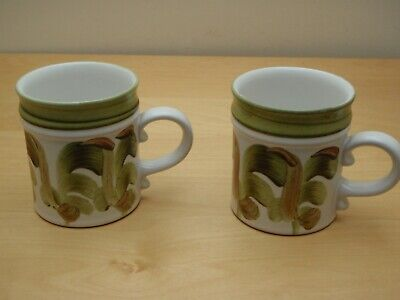 Denby Hand Painted Pottery Tankards Mugs In Excellent Condition • 14.99£