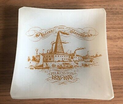 Rare Chance Glass Fiesta Ware St Helens Glassworks Pilkingtons 150 Yrs 1976 Dish • 19.50£