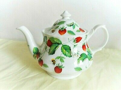 Vintage Roy Kirkham  Strawberry  And Bees  Design  Teapot (display Use Only ) • 4.99£