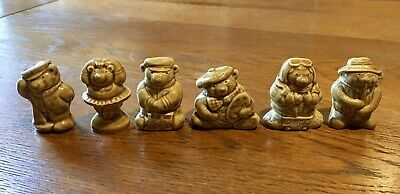 6x Wade Whimsies Christmas Crackers Teddy Bear Ambitions Complete Set - Gift • 4.50£