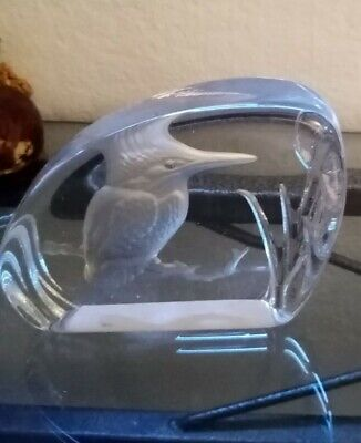 Kingfisher Glass Paperweight, Wedding, Gift, Collectable, Country Chic, Birds • 4£