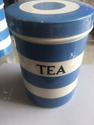 T G Green Cornishware 17.5cm  Tea  Large Caddy • 25£