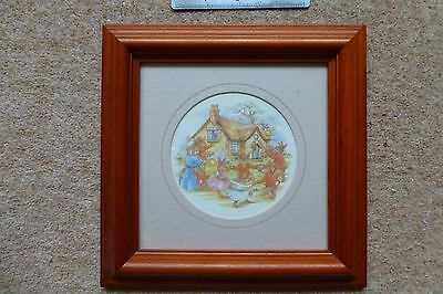 Bunnykins Framed Picture  C1988  Series No717 Royal Doulton • 3.95£