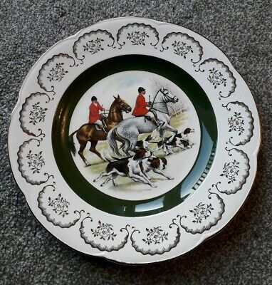 Ascot Service Decorative Wall Plate By Wood And Sons Hunting Scene 26.5 Cm Dia • 2.99£