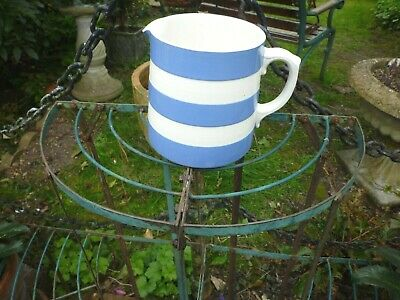 T G Green Cornish Ware Blue Milk Jug England • 4.99£