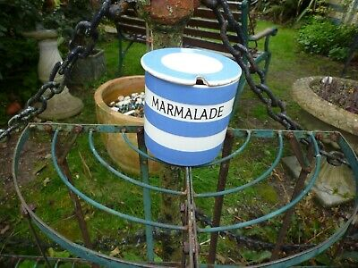 T G Green Cornish Ware  Blue Breakfast Preserve Marmalade Pot England • 14.99£