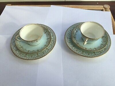 Alfred B Pearce Vintage China 2 Cups, Saucers And 2 Plates • 7£