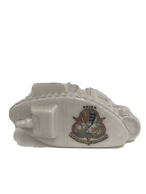 Crested Ware J.hancock & Sons Corona Ware World War 1 Tank With Dover Crest • 4.99£