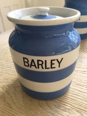 "T G Green Cornishware 16cm ""Barley"" Jar Very Early • 40£"