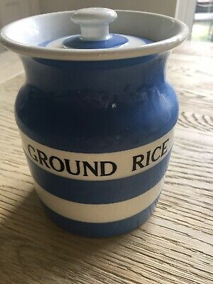 "T G Green Cornishware 14cm ""Ground Rice"" Jar • 35£"