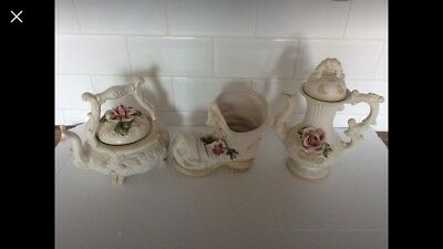 Decorative China Ceramic Flower Teapots And Boot Shoe • 45£