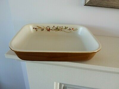 Marks & Spencer Harvest Pattern Rectangular Pie Dish • 3£