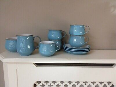DENBY Colonial Blue Jugs, Cups And Saucers  • 25£