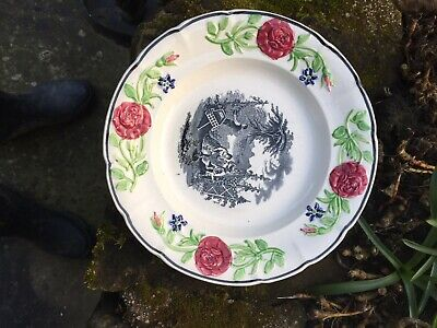 Middlesbrough Pottery 19thc Plate Depicting The Hop Pckers. • 0.99£