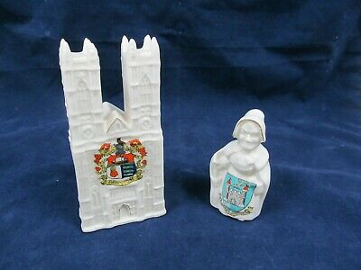 Arcadian China Cathedral And Mother Shipton Figures (GA182535) • 9.99£
