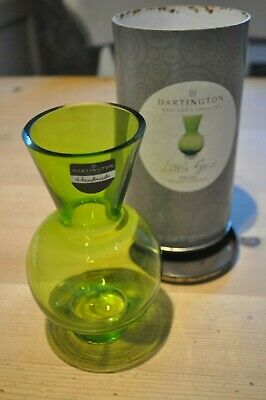 Dartington Glass Little Gems Green Ball Vase In Original Container • 3.99£