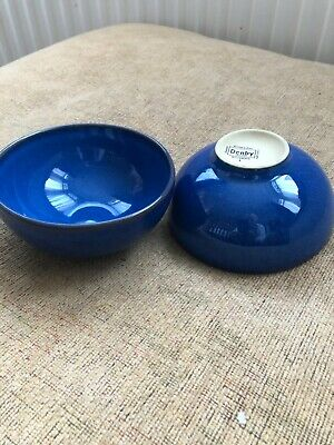 DENBY - IMPERIAL BLUE - Rice / Noodle Bowls X 2 Brand New • 13£