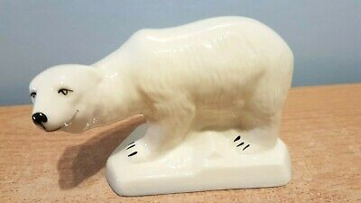 Beautiful Belleek Glazed Parian Ware Polar Bear. Mint Condition. • 14.99£
