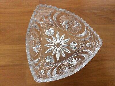Vintage Crystal Cut Glass Bowl • 4.20£