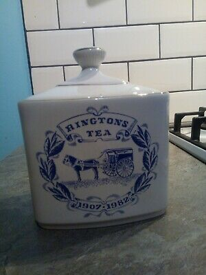 Vintage Ringtons Tea Caddy 1907 - 1982 By Wade Heath & Co. • 3.50£