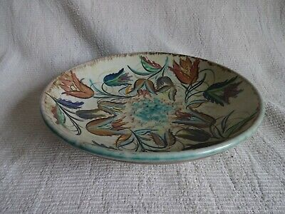 Vintage Denby Glyn Colledge Decorative Hand Painted Pottery Bowl 10.5  Dia • 4.99£