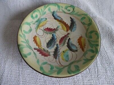 Vintage Denby Glyn Colledge Decorative Hand Painted Pottery Bowl 9  Dia • 4.99£