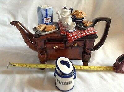 Cardew Novelty Collectable Lge Teapot Baking Day Table &sugar Pot Mint Condition • 24£