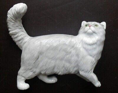 John Beswick Connoisseur Collection Cat Persian - Shaded Silver Ref. JBCOC6 • 45£
