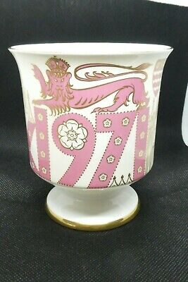 Coalport China Mulberry Hall Goblet 1971 York Founding Anniversary By D Brindley • 12£