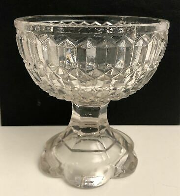 Vintage Retro Crystal Glass Stemmed Ice Cream Compote Or Sweet Dish Bowl • 10.99£