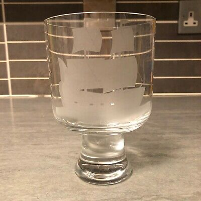 Vintage John Macdonald Caithness Glass Etched Mayflower Boat • 4.99£