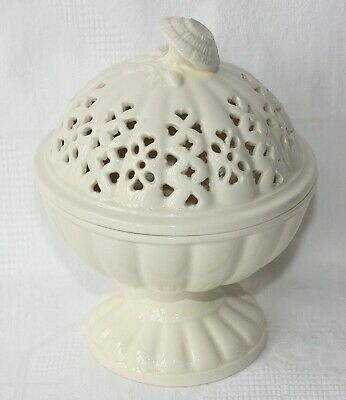 Vintage Royal Creamware 'Occasions' Fine China Pedestal Bowl & Reticulated Lid • 10.99£
