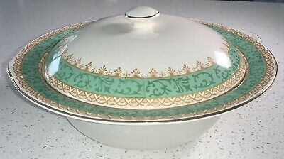 Vintage Victoria Pottery Fenton Empress Serving Bowl / Terrine With Lid • 12£