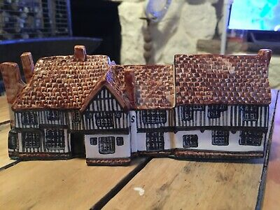 """Tey Pottery Norfolk """"Britain In Miniature"""" Series """"The Bull"""" Suffolk Cottage • 29.99£"""