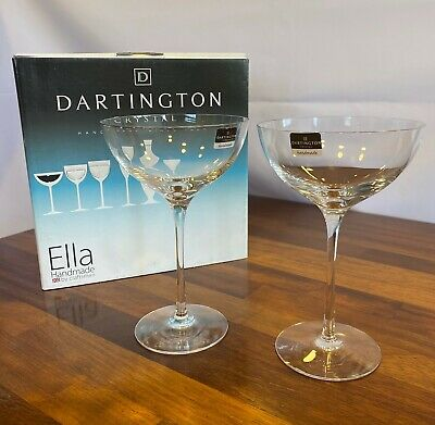 Dartington Crystal Ella Coupe Glasses Pair (x2), Boxed And Unused • 19.99£
