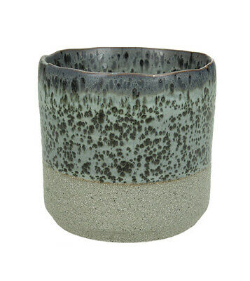 Umbria Mottled Two Tone Green Planter Large By Libra • 24£