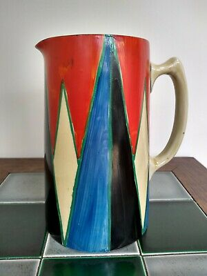 Art Deco Clarice Cliff Original Bizarre Geometric Large Tankard Shape Jug • 250£