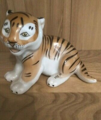 Lomonosov Vintage Porcelain Tiger Cub - Made In Russia - Lovely Condition • 16£