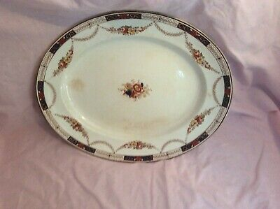 Antique Alexandra Opaque China Platter; Sampson Hancock & Sons; C 1800's • 85£