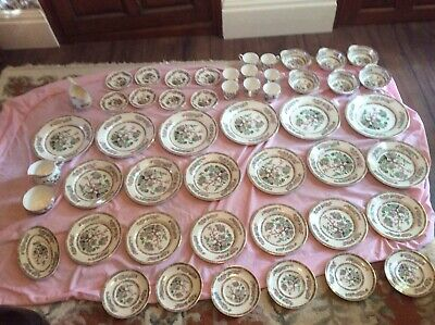 Lord Nelson Pottery England Dinner Service; 50 Pieces; Vintage; Indian Tree • 115£