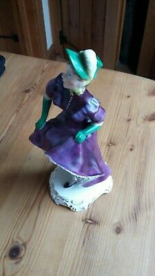 Adderley Floral Bone China Figurine - The Can Can  Violette  • 45£